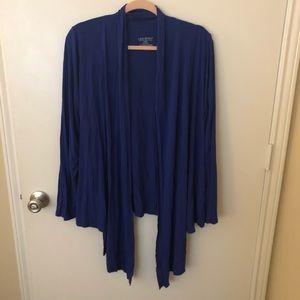 Lane Bryant Blue Thin Loose Asymmetric Cardigan